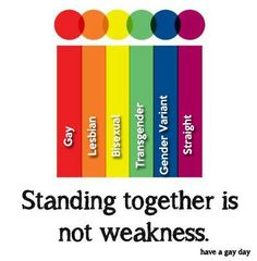 Standing together is not weakness.