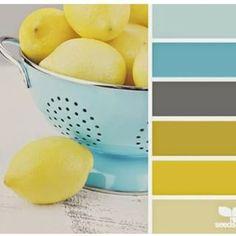 lemony hues palette from Design Seeds Design Seeds, Colour Schemes, Color Combos, Colour Palettes, Color Palette Gray, Paint Schemes, Color Trends, Pantone, Kitchen Colors