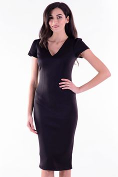Rochie Miriam Negru – Karla.Club Short Sleeve Dresses, Dresses With Sleeves, Club, Collection, Fashion, Moda, La Mode, Gowns With Sleeves, Fasion