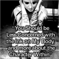 Tattoos and piercings do not make anyone a bad person. Jj Tattoos, Great Tattoos, Future Tattoos, Beautiful Tattoos, Body Art Tattoos, Tatoos, Awesome Tattoos, Beautiful Body, Amazing Body