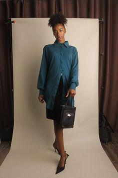 Jorja Button Up Dress Shirt ~ Deep Jade Work Blouse, Blouse Dress, Work Shirts, Button Up Shirts, Lace Camisole, Button Up Dress, Dress Shirts For Women, Jade, Teal