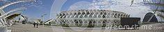 Panoramic Museum Principe Felipe City of Arts and Sciences . Valencia- Spain