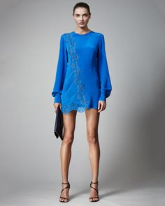 Long-Sleeve Minidress by Stella McCartney at Neiman Marcus.