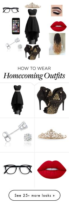 """little black dress"" by ashley-barnhart on Polyvore featuring Lime Crime, Alexander McQueen, BillyTheTree and Amanda Rose Collection"