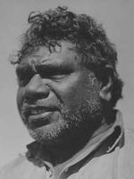 Our most wonderful painter of the central Australian landscape in a european-aboriginal hybrid style all of his own. Albert Namatjira by unknown photographer