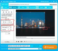 Recortar vídeo y eliminar barras negras nunca es una cosa difícil con Renee Video Editor, este software puede ayudarle a editar sus vídeos de manera fácil y eficaz.  http://www.reneelab.es/como-recortar-video-y-eliminar-barras-negras.html