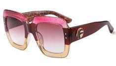 6cb74e8ac0f CCSPACE Luxury Brand Oversized Square Sunglasses Women Retro Brand Designer  Big Frame Sun Glasses Female G