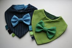 Baby bib set boy, twins baby bibs removable bow tie , nice baby shower, baptism / christening gift