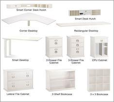 dimensions bedford pottery barn corner desk - Google Search