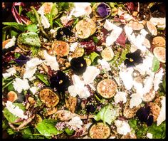 Fig, goats cheese and walnut salad @ Seeds 2 Totnes