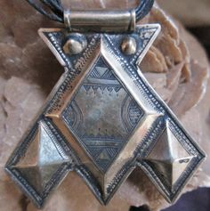 Tuareg Silver Amulet Khomissar/ Khomeissa Hamza by TuaregJewelry, $118.00