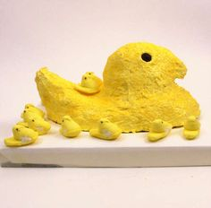 Giant Peep Cake (w/ Peeps inside) I want this for my birthday next year.