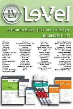 Thrive is the new way to live. A premium lifestyle comprised of premium pharmaceutical quality vitamins and minerals.  http://taratouchton.le-vel.com