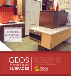 #GEOS Recycled Glass Surfaces are Beautiful. Sustainable. Strong.