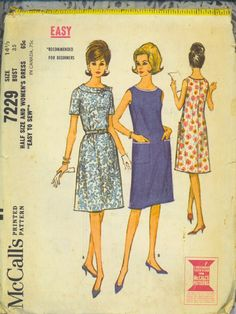 Vintage Dress Pattern 1960s Complete A Line by TheMaineCoonCat, $7.50