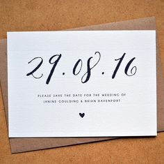 New save the date design available in the Amy's Avenue Etsy shop now Matching items coming soon!