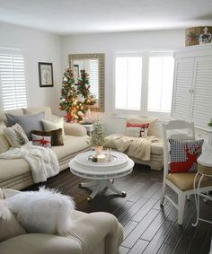 I like the chairs, the table, the tree, oh and most of all the cozyness