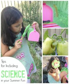 Tips for Including SCIENCE into your Summer fun with Kids