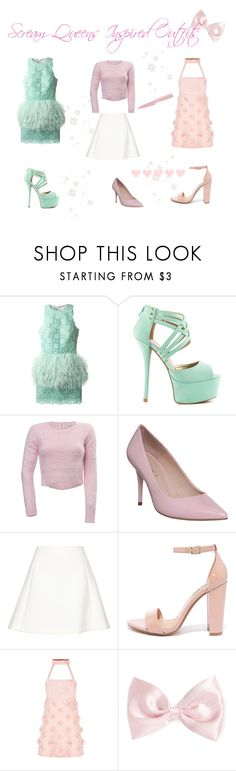"""""""♡ Scream Queens Inspired Outfits #3 Chanel Oberlin♡"""" by kaylalovesowls ❤ liked on Polyvore featuring Daizy Shely, Qupid, Cotton Candy, Office, Neil Barrett, Steve Madden, Forever 21 and Kuhn Rikon"""