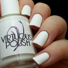 BeginNails: Every Journey Has a Beginning: Virtuous Polish Swatch and Review Purity swatched by @beginnails. http://www.beginnails.blogspot.com/2014/10/virtuous-polish-swatch-and-review.html