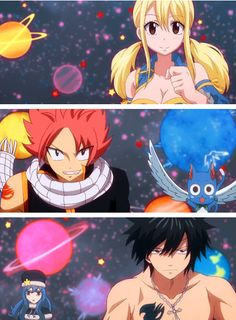 Natsu and Lucy and Gray