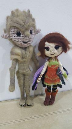 Bog and Marianne dolls - cuteness overload Strange Magic Movie, Marianne, Cartoon Man, Animation Film, Anime Comics, Hatsune Miku, Cuddling, Diy And Crafts, Teddy Bear