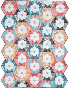 Hexie Flowers Quilt Kit