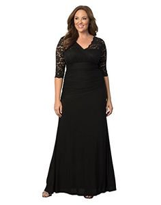 New Sue Joe Women s Plus Size Dress 3 4 Sleeve Deep V Neck High