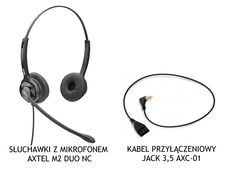 Axtel M2 duo NC + kabel AXC-01 (Jack 3,5 mm) voip24sklep.pl