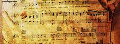 Vintage Sheet Music Notes Facebook Cover CoverLayout.com