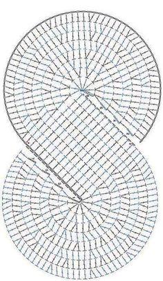 Toalha de crochê com gráfico