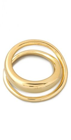 Classic Saturn Ring by TOM BINNS via shopbop.com. Be still my heart this could be the one- I have inherited my dad's bracelet and want to remould it to be a woman's bracelet (with his gold). A.D.Bessette