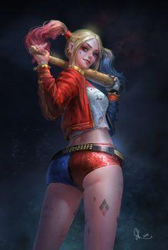 Les plus beaux fan arts d'Harley Quinn version Suicide Squad - SKtneh