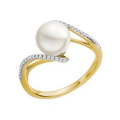 Metal 18ct Yellow Gold Coloured Stone White Pearl Diamond Quality H-I PK Diamond Weight 0 15ct Diamond Cut Stock code