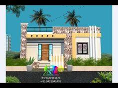 Modern Small House Design, Small Modern Home, Village House Design, Village Houses, Front Elevation Designs, New Home Designs, Ground Floor, New Homes, Flooring