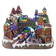 LED Village with Animated Tree http://shop.crackerbarrel.com/LED ...