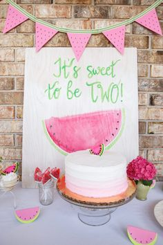 It's Sweet to be TWO Watermelon Party kept things cool for a June birthday party in the South. Plus, it's a great time of year to find watermelon supplies.