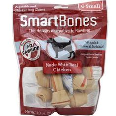 """Amazon has the SmartBones Small Chicken Chews (6 Pack) marked down from $5.59 to $3.07 with free shipping! To get this deal: Add the SmartBones Small Chicken Chews (6 Pack) to your cart Then click on the """"Subscribe & Save"""" option on the right side of the item page Check out for $3.07 with free…"""