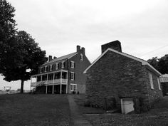 Old buildings located in the village of West Overton outside of Scottdale, PA