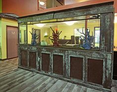 Beautiful Fishtank patina created with Modern Masters Metal Effects by decorative painter Heather Jozak Studios | Modern Mastery Projects Feature
