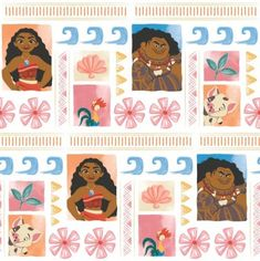 Moana fabric Disney Cotton print, Pua fabric, Pig fabric craft and clothing, quilting fabric FQ, Meter/Yard - Fabric Crafts Moana Fabric, Disney Fabric, Moana Disney, Nursery Fabric, Baby Nursery Decor, Cotton Crafts, Fabric Crafts, Winnie The Pooh, Harry Potter Fabric