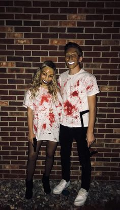 halloween costume couple purge Purge couple Halloween costumeYou can find Couple halloween costumes and more on our website Cool Couple Halloween Costumes, Trendy Halloween, Halloween Outfits, Diy Halloween, Couple Costumes, Paar Halloween, Woman Costumes, Women Halloween, Group Costumes