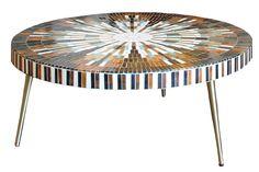 Pebble Mosaic, Mosaic Art, Mosaic Tiles, Glassy Eyes, Mosaic Planters, Mid Century Coffee Table, Interior Inspiration, Rose, Vintage