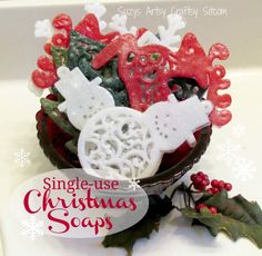 Single-use Christmas Soaps Tutorial