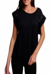 Zaria -- Black Shoulder Zipper Shirt  ~~  Your next outfit is one click away! Shop at www.SassyRiley.com