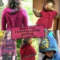 Mom and me, 5 matching crochet garments - via @Craftsy
