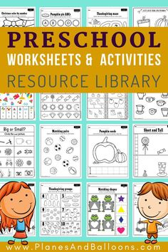Preschool math and literacy activities and worksheets Free printable preschool worksheets - your resource library for fun worksheets and activities for preschool. A ton of FREE pre-k printables for learning numbers, letters and shapes! Preschool Workbooks, Printable Preschool Worksheets, Free Preschool, Preschool Kindergarten, Preschool Binder, Preschool Homework, Homework For Preschoolers, Free Alphabet Printables, Printable Shapes