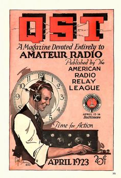 Ham Radio Operator 1923 ... time for action! by x-ray delta one, via Flickr