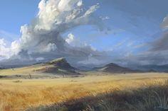ArtStation - Clouds n' plains, Eli Ring