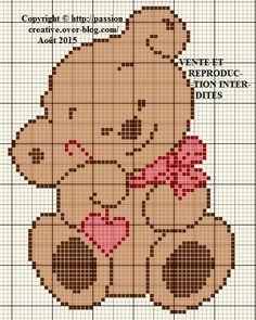 New crochet facile grille Ideas Cross Stitch For Kids, Cross Stitch Cards, Cross Stitch Baby, Cross Stitch Kits, Cross Stitch Designs, Cross Stitching, Cross Stitch Embroidery, Embroidery Patterns, Cross Stitch Patterns